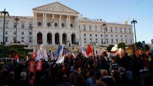Austerity Protest in Lisbon, Portugal