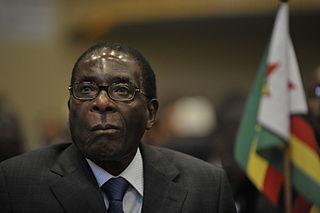 Robert Mugabe at the 12th AU summit