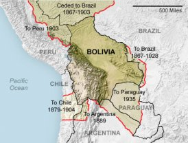 Bolivia's lost territories
