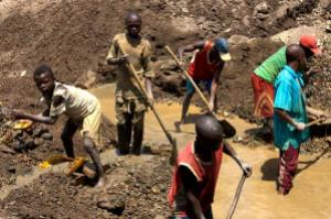Child mining workers in DRC
