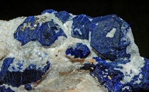 Lazurite and pyrite Afghanistan
