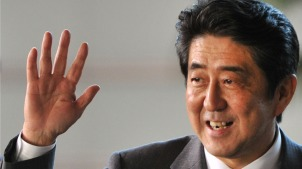 Shinzo Abe (photo credit: The Times)