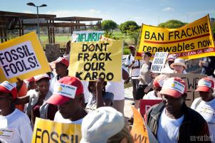 Cape Town South Africa Fracking Rally