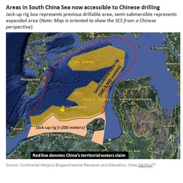 South China Sea drilling
