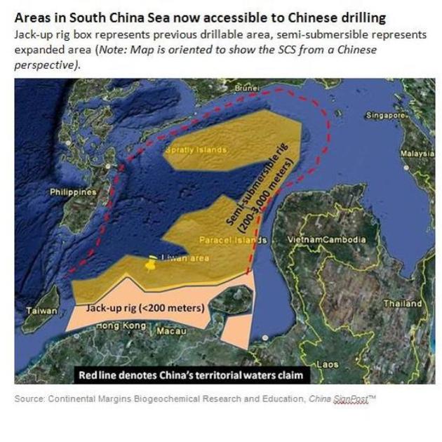 South China Sea drilling