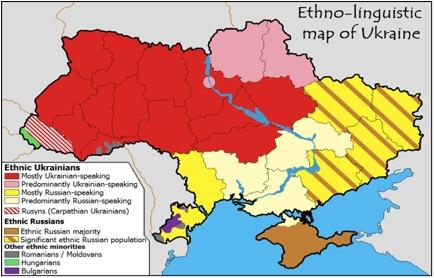 Ethno-linguistic map of Ukraine
