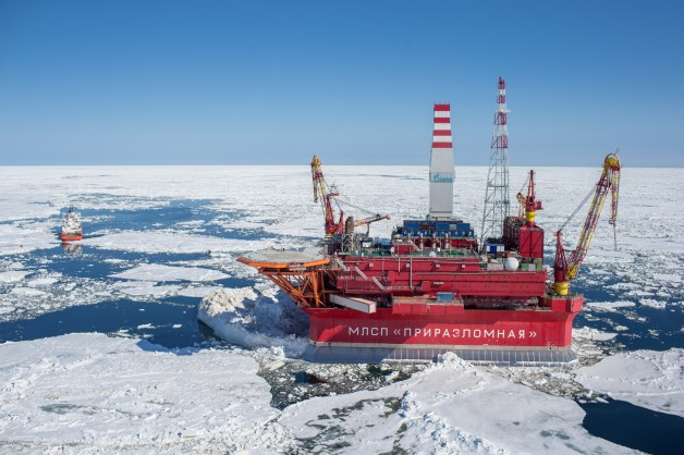 Russian oil rig