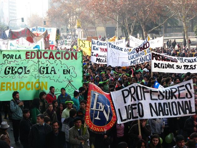 student protests Chile
